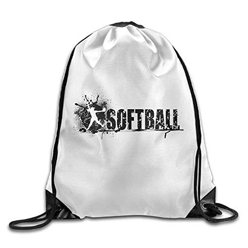 Naiyin Softball Black Friend Unisex Gym Drawstring Shoulder Bag Backpack String Bags - -
