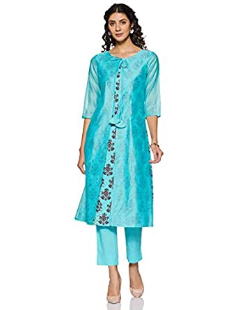 Amazon Brand - Tavasya Women's A Line Salwar Suit Set