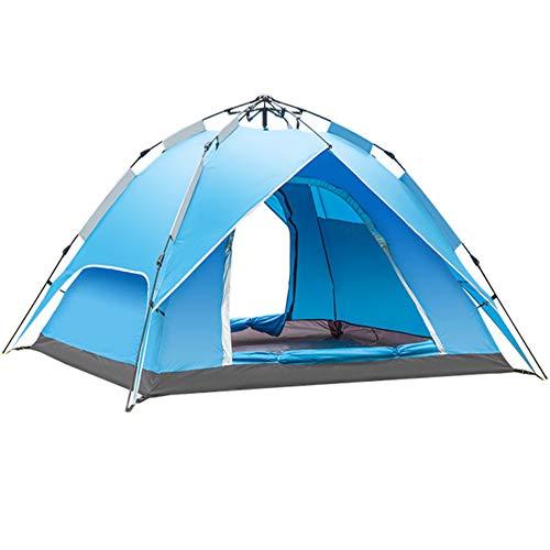 ZolrTped Vollautomatische 3-4 Personen Zelt,anwendbar Für Camping & Strand Und Wandern,einfache Einrichtung - Zusammenklappbar Mit Tragetasche - Leichte & Robust-a 210x210x135cm(83x83x53inch)