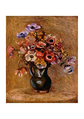 Pierre Auguste Renoir Still Life (Spiffing Prints Pierre Auguste Renoir - Still Life Vase - Extra Large - Archival Matte - Framed)
