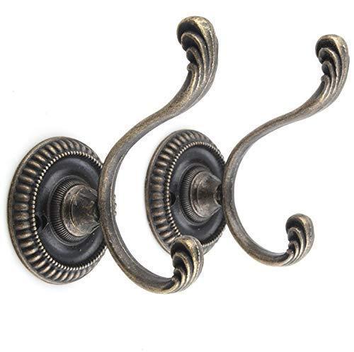 ge Kleiderhaken an der Wand befestigte Haken dekorative Wand Kleiderbügel für Handtuch Mantel Hut Schlüssel mit 8 Stück Schrauben ()