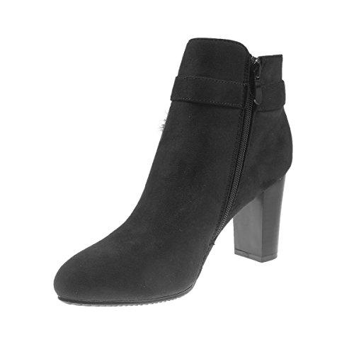 dc5c92a3b11f ... 5186 Fashion4Young Elegante Damen Stiefel Stiefelette Ankle Boots  Lederimitat Reissverschluss Schwarz ...