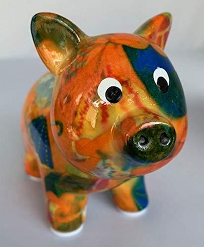 Pomme Pidou Spardose Petit Glücksschweinchen orange Regenschirm