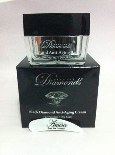 Shemen Amour - Dead Sea Black Diamond - Crème nourrissante de nuit anti-age à la poudre de diamant - 50 ml