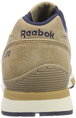 Reebok Gl 6000 Ch, Chaussures de Running Compétition homme Marron - Braun (Walnut/Collegiate Navy/Paperwhite)