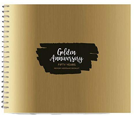 FIFTY ANNIVERSARY GIFT - Personalizable Book To Fill with Special Moments and Give to Your Husband or Wife As a Remembrance of the 50 Anniversary Together!