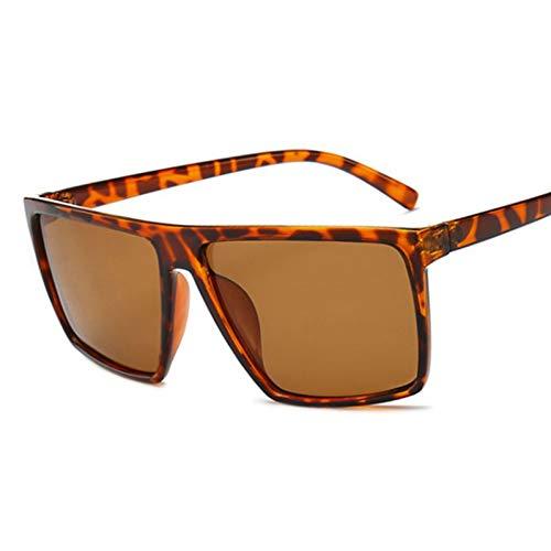 TIANKON Flat Top Hd Polarisierte Sonnenbrille Männer Retro Oversize Driving Brille Platz Frauen Uv400 Schutzbrille,A2d