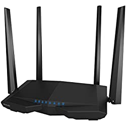Tenda AC6 Dual Band 1200Mbps 11AC 802.11g/n/b/a WPS WDS VPN Firewall Wireless Repeater Router (AC6, Black)