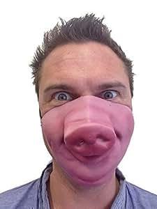 Drôle Demi Visage Nez De Cochon Masque Latex Animal Fétiche Déguisement Enterrement De Vie De Garçon Masquerade