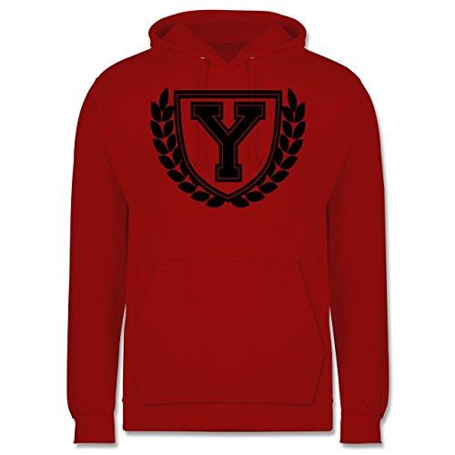 Anfangsbuchstaben - Y Collegestyle - Männer Premium Kapuzenpullover / Hoodie Rot