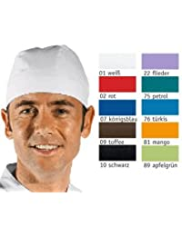 Bandana - Kochmütze - Kochhut Farbe rot - Einheitsgröße