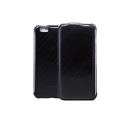 "STAR-CASE ""Star-Case"" ® Flip ""Roma"" Linea für Apple IPhone 6 Plus, 6s Plus Echt Leder Black"