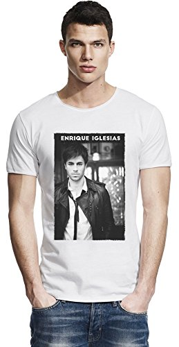 Black Enrique Iglesias Raw Edge-T-Shirt Large