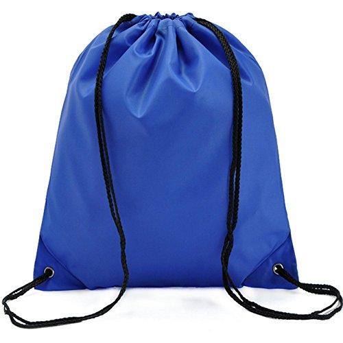 Fablcrew Sac à dos en nylon pliable Sac fourre-tout Sacs Sac à cordon pour Voyager Sport de stockage Bleu Fablcrew