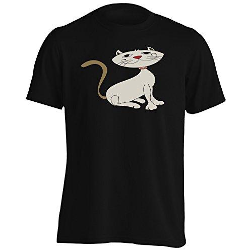 Nuovo Papavero Divertente Divertente Di Gatto Di Sorriso Uomo T-shirt i360m Black