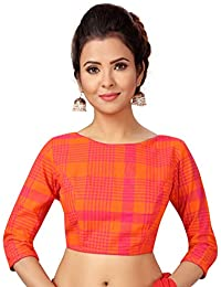 0e51dce9852109 Amazon.in  Oranges - Blouses   Ethnic Wear  Clothing   Accessories