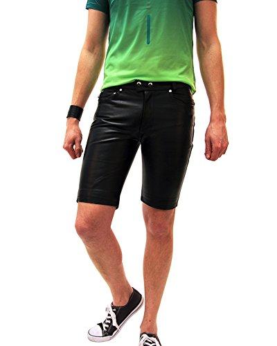 Bockle® 1991 Short Black kurze Herren Lederhose schwarz, Size: W38/L32