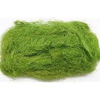monsterkatz Set 12 x Kokosnuss Fasern Moana, Grün, 30 g - Natur Bastelmaterial/Kokosfasern