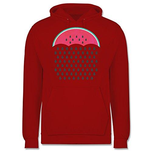 Statement Shirts - Watermelon Rain - Männer Premium Kapuzenpullover / Hoodie Rot