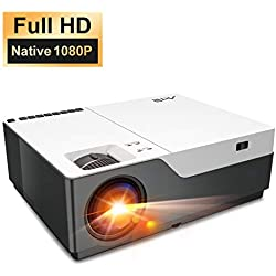Artlii Projecteur Amélioré,Full HD Vidéoprojecteur,Rétroprojecteur Faible Bruit, Compatible Chromecast, Supporte Multimédia Home Cinéma, Clé USB, iPhone, PC, PS4