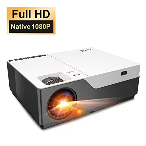 "Beamer Full HD - Artlii Beamer 1080P Native (1920x1080) mit 300"" und Zoom Projektor 55000 Stunden für Heimkino und Powerpoint Präsentation Kompatibel mit Laptop, USB-Stick, Android Smartphone, iPhone"