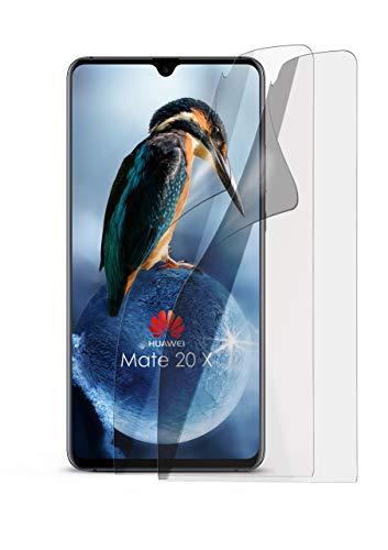 2X Huawei Mate 20 X | Schutzfolie Matt Display Schutz [Anti-Reflex] Screen Protector Fingerprint Handy-Folie Matte Displayschutz-Folie für Huawei Mate 20 X Displayfolie
