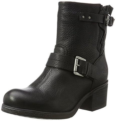 Bullboxer Damen 539657E6L Biker Boots, Schwarz (Black), 39 EU