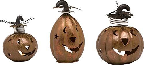 c. Funky Jack-O-Lantern Teelichthalter, bronzefarben, 9 x 8 Stück ()