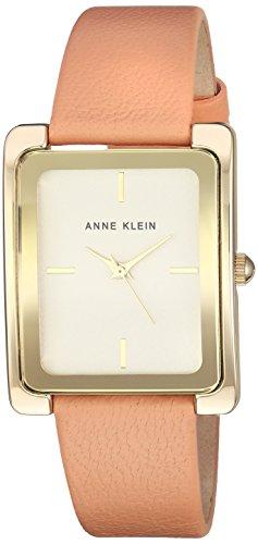 Anne Klein Women's AK-2706CHPE Gold Leather Quartz Fashion Watch