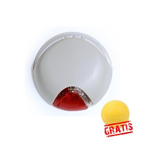 FLEXI VARIO LED LIGHTING SYSTEM +BALL Gratis Licht Lampe Passend für Hundeleine Vario Hunde (Hellgrau)