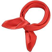 477a942095d7 Topmode Foulard soie carré 52 cm couleur unie