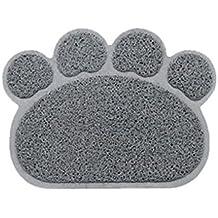 Befaith Alfombrillas de ratón huellas de la forma cuadrada alfombrillas de gatos alfombras de garra de