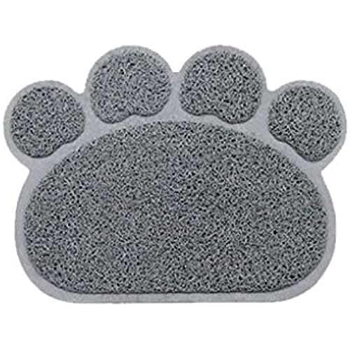 regalos tus mascotas mas kawaii Befaith Alfombrillas de ratón huellas de la forma cuadrada alfombrillas de gatos alfombras de garra de PVC para mascotas gato perro