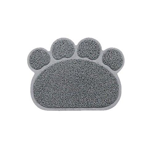 Befaith Alfombrillas de ratón huellas de la forma cuadrada alfombrillas de gatos alfombras de garra de PVC para mascotas gato perro