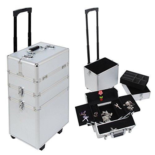 Generic EY Cosmétique Box Vanity Beauté Beauté Chariot Cosmeti Extra Large Maquillage Extra Chariot de la Cosmétique Irdres Coque de Coiffure Akeup Box