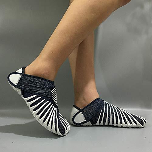 ANMY Zapatillas Vibram Furoshiki con Tejido elástico, para Hombres súper Ligeros con Cinco Dedos Portátil para Correr Tenis Plegado con Envoltura para Zapatos Zapatillas de Fondo Plano y Suave,B