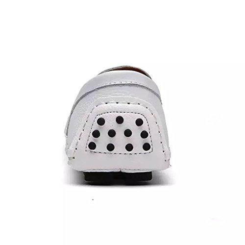 Herren Slipper Loafers Mokassins Weiß Flache Schuhe Schuhe Leder 7HFrWf47