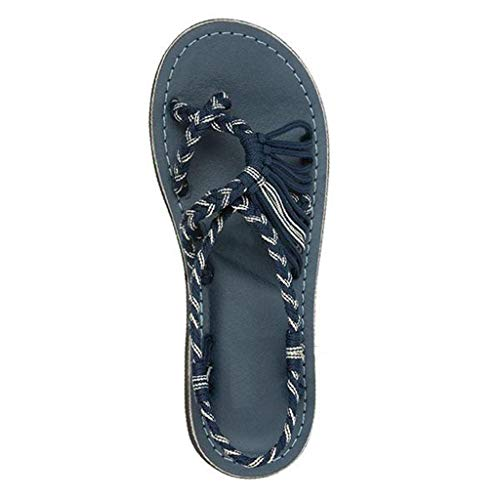 ☀NnuoeN☀ Sandali Donna,Sandali Donna Elegante,Sandali Cinturino Caviglia Donna,Donna Scarpe,Scarpe Basse Sandali da Spiaggia Infradito,Sandali Intrecciati