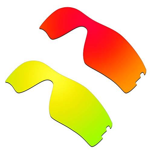 HKUCO Verstärken Ersatz-Brillengläser für Oakley Radar Pitch Rot/24 Karat Gold Sonnenbrille