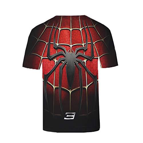 JUFENG Männer Compression Shirt 3D Drucker Spinne Hero Logo Männliche Kurzarm T-Shirt Fitness Cosplay Männer Tops,B-S