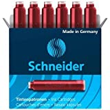 Schneider 10 x Tintenpatrone VE=6 Stück rot
