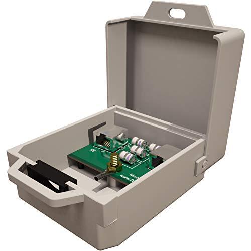 Tupavco Ethernet Überspannungsschutz Wetterfest PoE+ Gigabit für Überstrom Schutz -Blitzschutz RJ45 Protektoren -Netzwerk Kabel Blitzableiter - Ethernet Surge Protector TP303