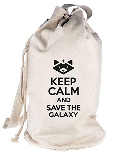 Keep Calm And Save The Galaxy, bedruckter Seesack Umhängetasche Schultertasche Beutel Bag Natur