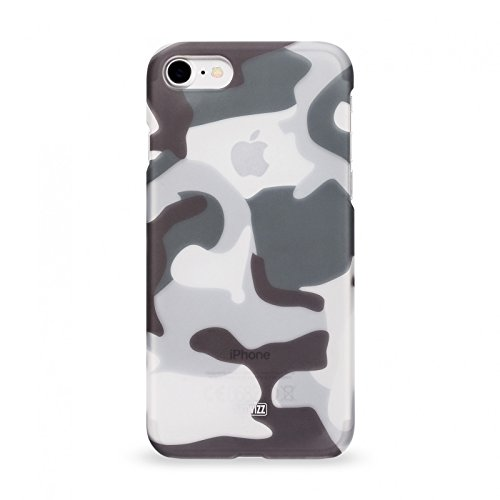 Artwizz Camouflage Clip Schutzhülle für iPhone 8, 7 - Design-Hülle in Cool-Grey Optik, mit Soft-Touch-Beschichtung und geschmeidigen Grip - iPhone 8, 7 Case Designed in Berlin - 1101-1860