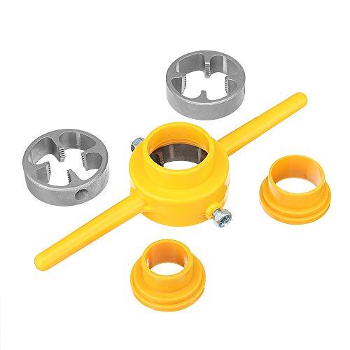 KUNSE 6 Stück Npt Die Set PVC Thread Tool Maker 1/2 3/4 1 Inch PVC Pipe Threader Schraube Die
