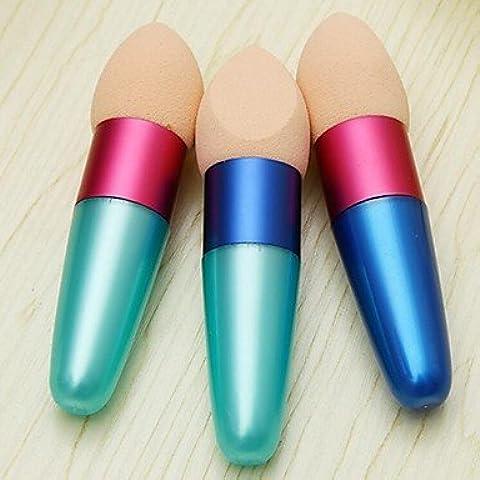 F&HY&L 2pcs Fondazione spugna applicatore Blender spugne trucco applicatori (colore a caso)