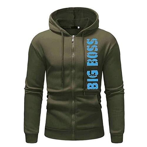MCYs Herren Herbst Winter Big Boss Drucken Langarm Hoodie Pullover Casual Jacke Outwear Tops Kapuzenjacke Sweatshirt | 00000705448442