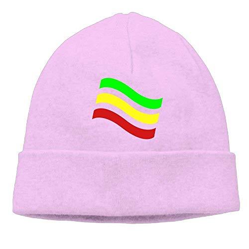 Beanie Hat Ethiopian Flag Hiphop Knit Cap for Mens