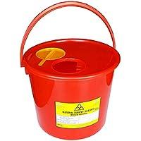 Preisvergleich für FabaCare Entsorgungsbox für Kanülen 5 Stück Abwurfbehälter, Kanülenabwurfbehälter, Kanülenbox 10 Liter, Rot