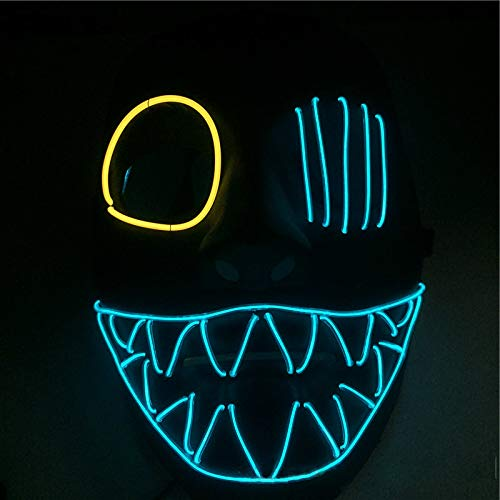 Queta Halloween Maske LED Light EL Wire Cosplay Maske Purge Mask für Festival Cosplay Halloween
